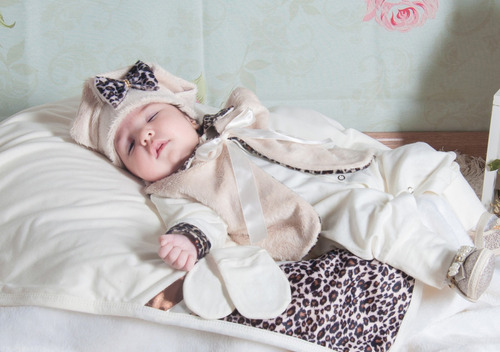 Saída De Maternidade Bebê Menina Oncinha