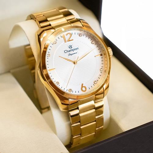 Relógio Champion Feminino Dourado Cn27607g Original