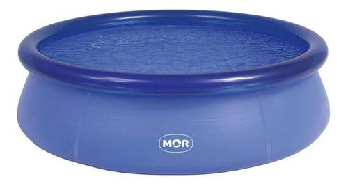 Piscina Inflável Redonda Mor 001053 De 2.4m X 63cm 2400l Cor Azul