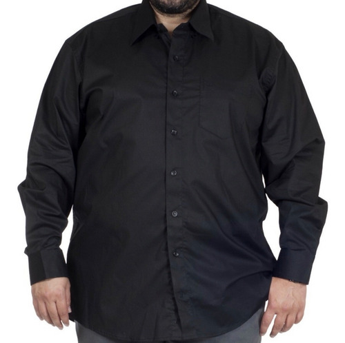 Camisa Social Masculina Manga Longa Tamanho Grande Plus Size
