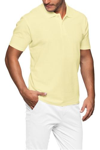 Camisa Gola Polo Lisa Malha Piquet Pa 50/50 25 Cores