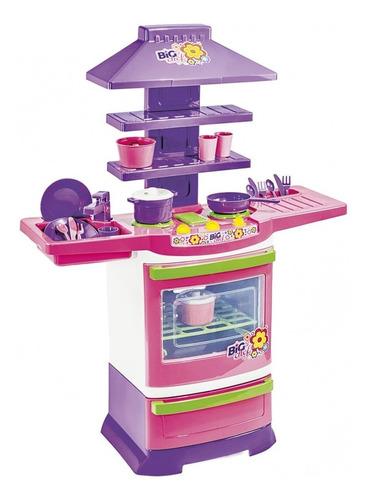 Cozinha Infantil Completa Fogão Infantil Menina Poliplac
