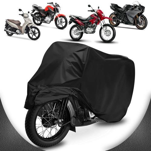 Capa Cobrir Moto Couro Proteção Sol Chuva P M G 100% Forrada