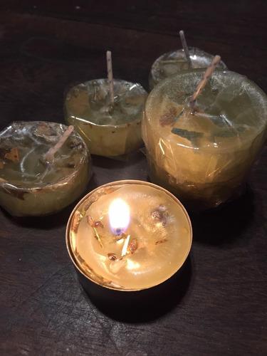 Velas De Noche De Romero ,ruda,lavanda Y Laurel Pack X10
