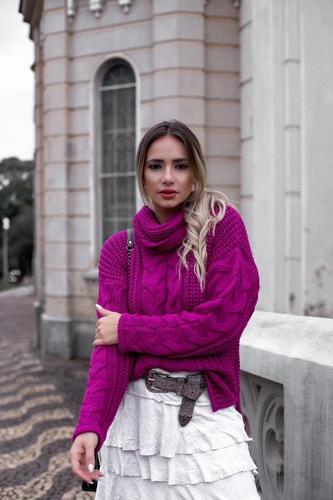 Blusa Tricot Lançamento Blogueira Golona Grossinha Hl315