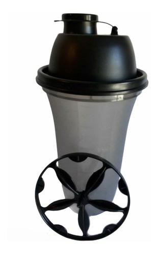 Vaso Mezclador Shaker Para Proteina  Color Negro Fume