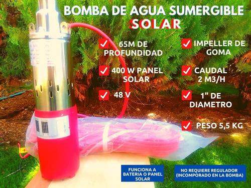 Bomba De Agua Solar Sumergible 48v 400w 65m Profundidad
