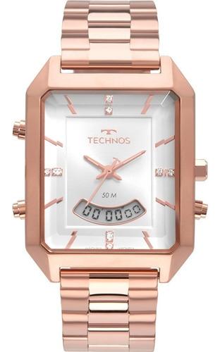 Relógio Technos Feminino Elegance Crystal Rose Gold Original