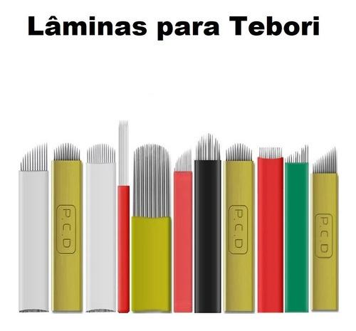 100 Laminas Microblading Tebori Agulha - Ler Descrição