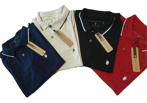 Promoção 3 Camisas Gola Polo Masculina Plus Size