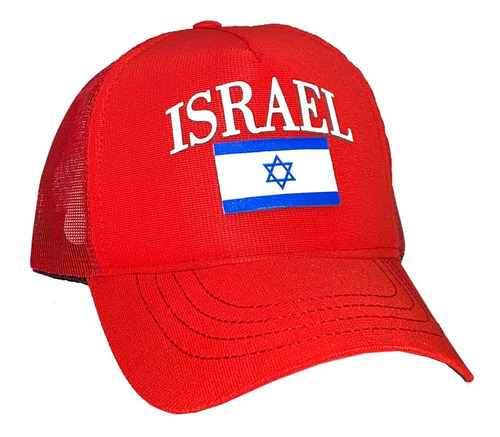 Boné Aba Curvada Judaico C Escrita Israel E Bandeira Israel