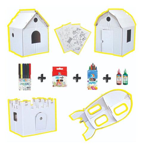 Kit De Arte Ondule 4 Juguete P/pintar Sticker Fibras Colores