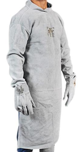 Avental Blusão Tipo Barbeiro Raspa Couro Soldador 1ª Linha