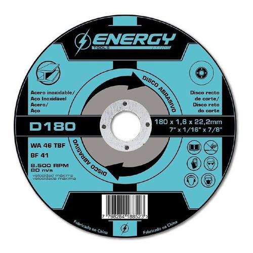 Discos Corte Metal 180mm 7pulgadas Energy - Ynter Industrial