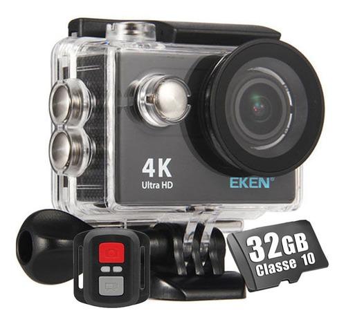 Câmera Eken H9r 4k Full Hd Controle Cartão 32gb Classe 10