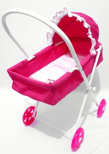 Carrinho Boneca Bebe Reborn Brinquedo Deitado Menina Berço