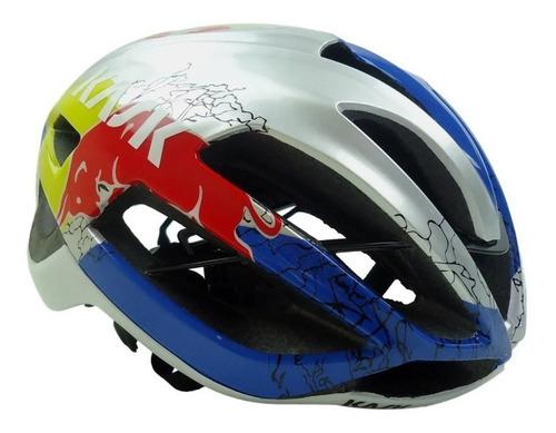 Capacete Ciclismo Triatlhon Aero Tt Bike Red Bull