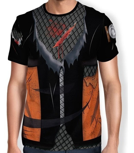 Kit 2 Camisas Uniforme 3d Akatsuki Itachi Naruto Shippuden