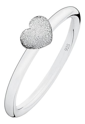 Anel Coração Diamantado Pura Prata 925 - Exclusivo  -  Compre Joias Direto Da Fábrica E Economize Dinheiro