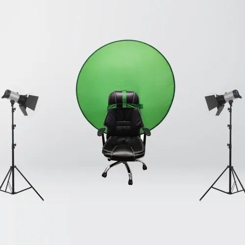 Green Portátil Webcam Telón De Fondo De Fotografía Estudio P
