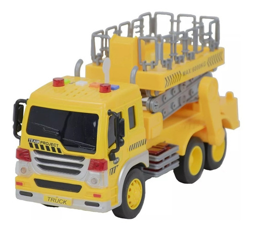 Caminhão Plataforma Realista Com Som E Luzes Bbr Toys