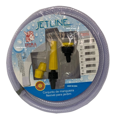 Mangueira De Jardim/ Quintal - Jet Line Cristal 15 Metros