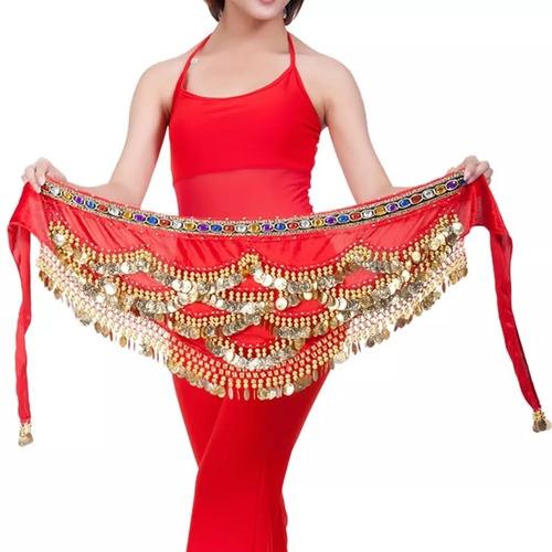 Lenço De Quadril Paetê Dança Do Ventre Cigana Luxo Mod 03