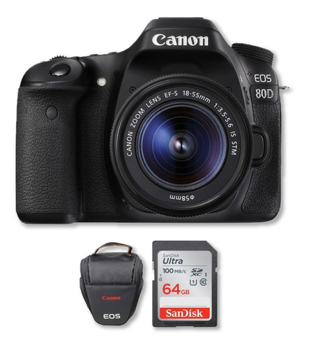 Canon 80d Con Lente 18-55mm Incluye Memoria De 64gb + Bolso
