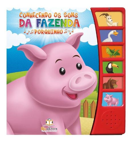Livro Infantil Bebê Som De Animalzinho Fazendinha Zoo Safari