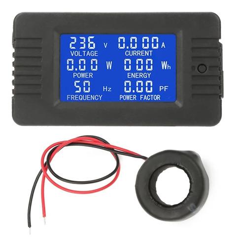 Wattímetro 110/220v Consumo Kwh 45~65hz Amperímetro 100a Pf
