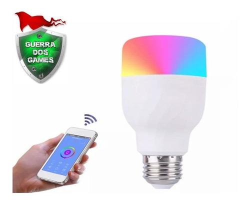 1 Lâmpada Inteligente Rgb Wifi Smart Google Alexa Colorida