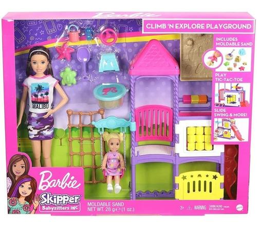 Muñeca Barbie Skipper Día En El Parque Guarderia Niñera