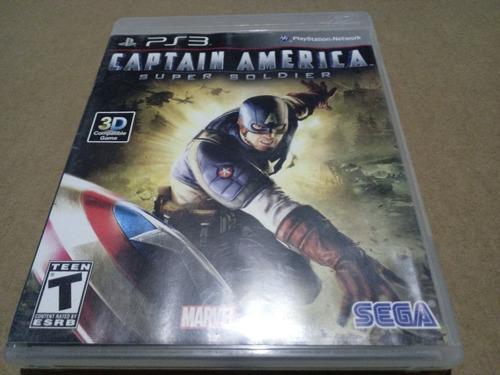 Captain America Ps3 Físico Zona Sur