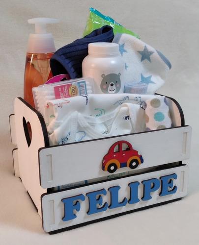 Canasta Regalo Bebé De Bienvenida  Nacimiento O Baby Shower