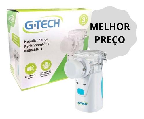 Inalador Nebulizador Rede Vibratoria Branco Nebmesh1 Gtech