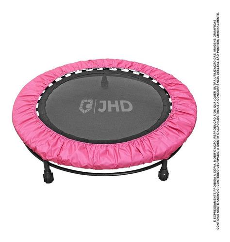 Cama Elastica Mini Jump Profissional Com Capa Rosa