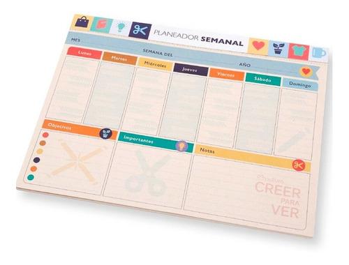 Planeador Organizador Agenda Semanal !!!promo!!!