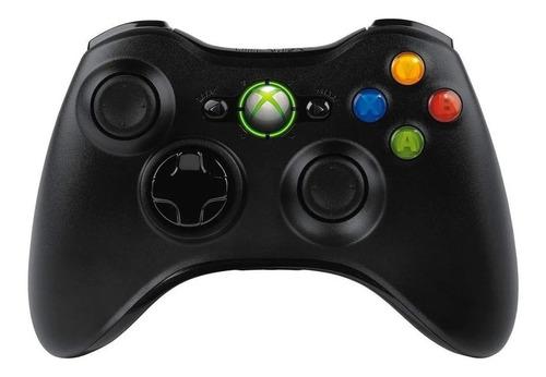 Controle Joystick Sem Fio Microsoft Xbox 360 Preto Nf-e