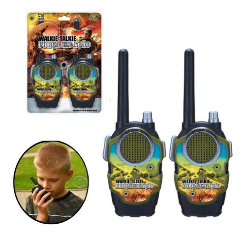 Rádio Comunicador Walk Talk Brinquedo Infantil Interativo