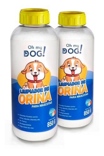 Oh My Dog- 2 Pzs De 850 (limpiador De Orina De Perro)