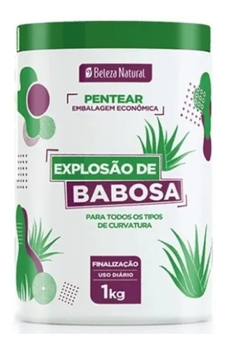 Beleza Natural Creme Pentear Cachos Explosão De Babosa 1 Kg