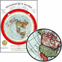 Mapa Da Terra Plana 60x84cm Terraplanista Enfeite Para Sala
