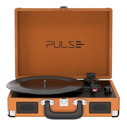 Retro Pulse Vitrola Multilaser Suitcase Bluetooth Marrom