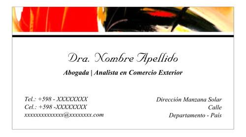 Tarjetas X200 Unidades Personales Y Comerciales Inkjet