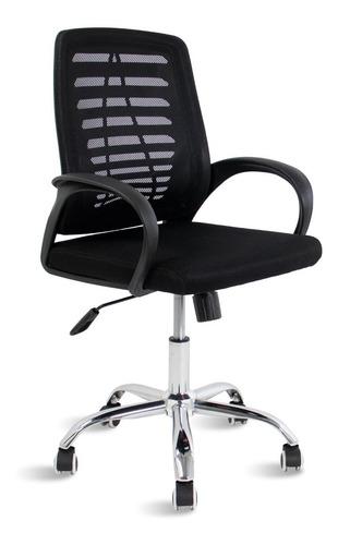Cadeira De Escritório Preta Diretor Bob Travel Max