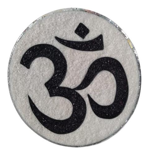 Quadro Mandala Decorativa Simb.do Om-45cm.frete Grátis.