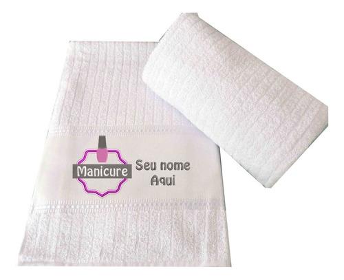Kit 3 Toalhas Bordadas Manicure