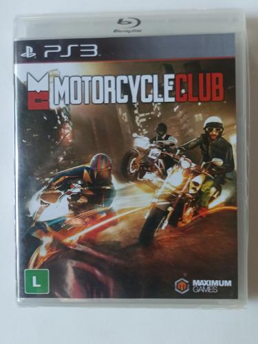 Motorcycle Club Ps3 Mídia Física Lacrado. Frete Grátis