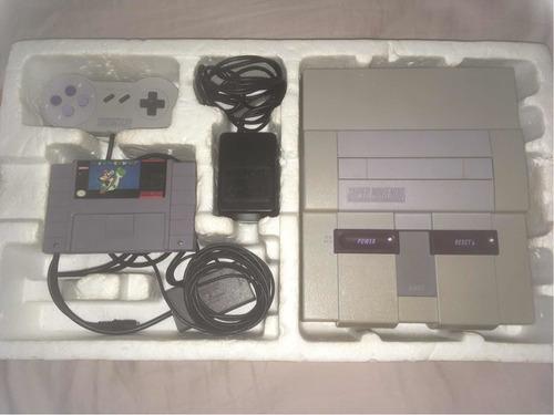 Super Nintendo Fat Na Caixa. Isopor, Controle, Rf E Jogos