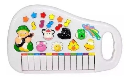 Piano Infantil Musical Educativo Som De Animais Fazenda .